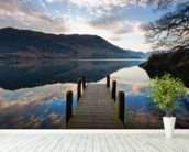 Ullswater Jetty mural wallpaper in-room view