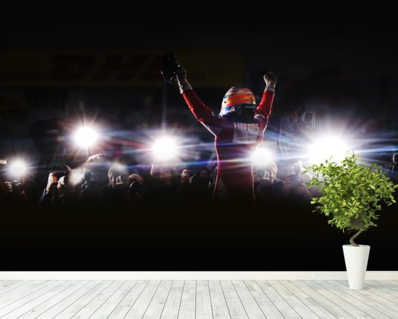 Fernando Alonso Korea victory 2010 wallpaper mural room setting