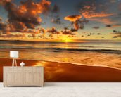 Colourful Australian Sunset mural wallpaper living room preview
