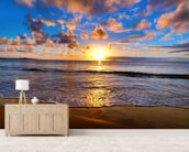 Horizon Sunset wall mural living room preview