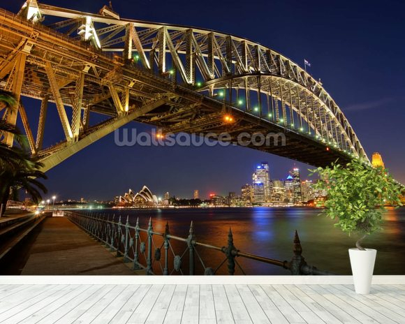 Sydney Harbour Bridge wall mural room setting
