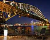 Sydney Harbour Bridge wall mural kitchen preview