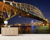 Sydney Harbour Bridge wall mural living room preview