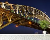 Sydney Harbour Bridge wall mural in-room view
