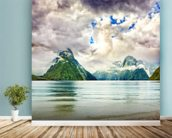 Milford Sound wallpaper mural in-room view