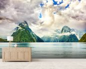 Milford Sound wallpaper mural living room preview