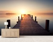 Stille am See wall mural living room preview