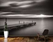 Pier Black & White wallpaper mural kitchen preview