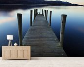 Evening Light on Ashness Pier mural wallpaper living room preview