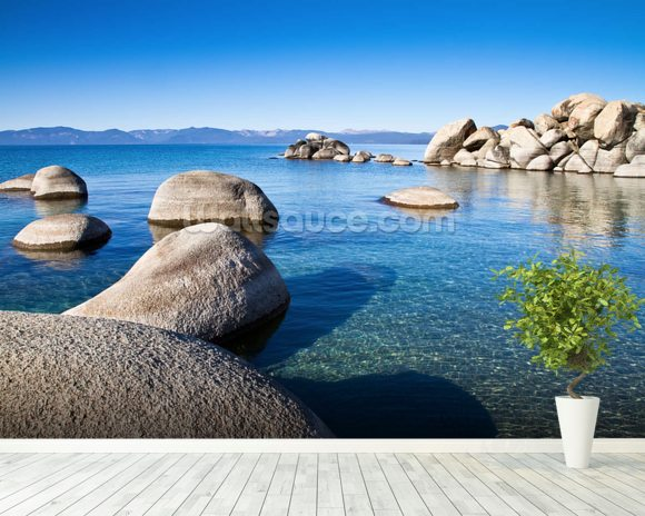 Lake Tahoe wall mural room setting