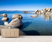 Lake Tahoe wall mural living room preview