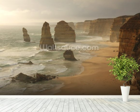 Twelve Apostles, Australia mural wallpaper room setting