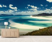 Whitehaven Beach, Australia mural wallpaper living room preview