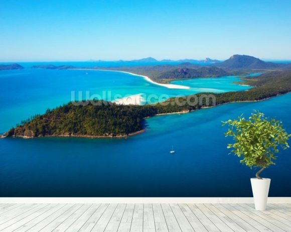 Whitsunday Islands wall mural room setting