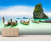 Longtail Boats, Thailand wall mural living room preview
