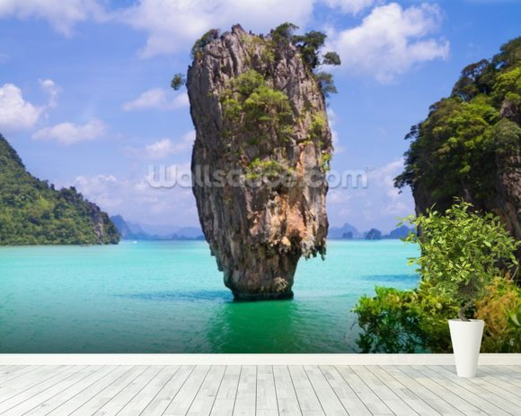James Bond Island wallpaper mural room setting