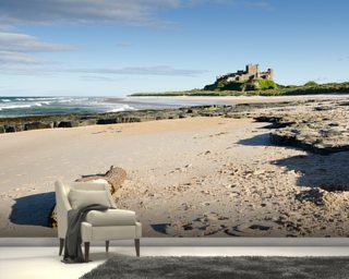 Bamburgh Castle mural wallpaper