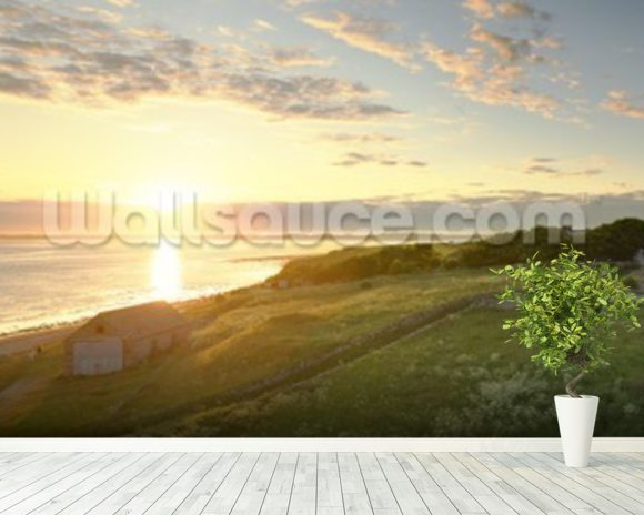 Lindisfarne Sunset wall mural room setting