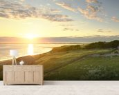 Lindisfarne Sunset wall mural living room preview