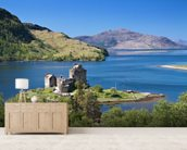 Eilean Donan 'Highlander' Castle wallpaper mural living room preview