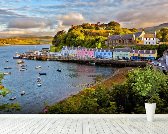 Portree, Isle of Skye mural wallpaper room setting
