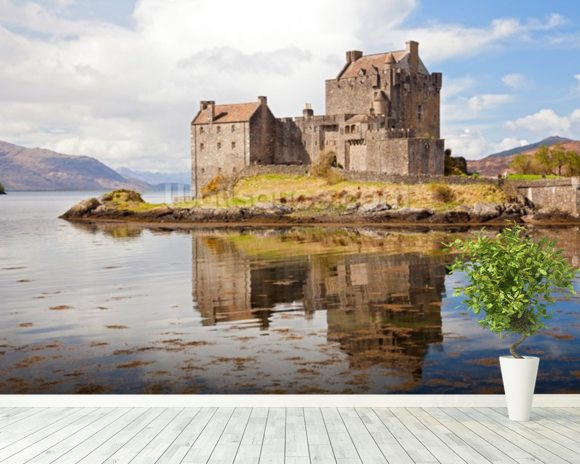 Eilean donan castle scotland wallpaper wall mural wallsauce for Castle mural wallpaper