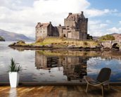 Eilean Donan Castle Panoramic wallpaper mural kitchen preview