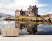Eilean Donan Castle Panoramic wallpaper mural living room preview