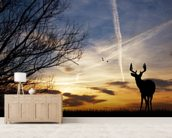 Deer at Sunset wall mural living room preview