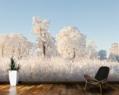 Snowy Trees Field wallpaper mural kitchen preview