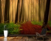 Foggy forest fairytale wall mural kitchen preview