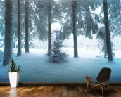 Winter Forest mural wallpaper kitchen preview