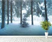 Winter Forest mural wallpaper in-room view
