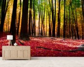 Colourful Autumn Forest mural wallpaper living room preview