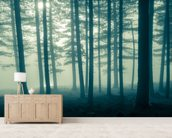 Foggy Forest wall mural living room preview
