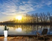 Lake Sunset Reflection wallpaper mural kitchen preview