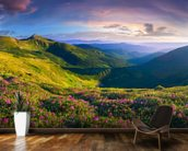 Lush Green Mountains wall mural kitchen preview