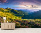 Lush Green Mountains wall mural living room preview