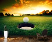 Golf at Sunset wallpaper mural kitchen preview