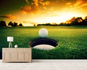 Golf at Sunset wallpaper mural living room preview