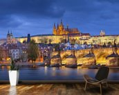 Prague at Night wallpaper mural kitchen preview