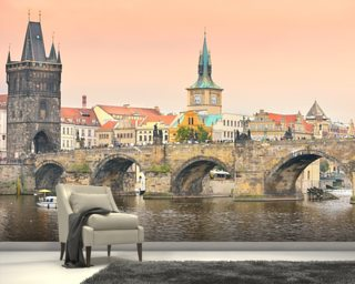 Prague mural wallpaper