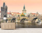 Prague mural wallpaper living room preview