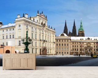 Prague Castle and Archbishops Palace mural wallpaper