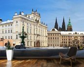 Prague Castle and Archbishops Palace mural wallpaper kitchen preview