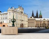 Prague Castle and Archbishops Palace mural wallpaper living room preview