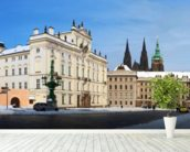 Prague Castle and Archbishops Palace mural wallpaper in-room view