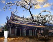 Sakura Temple mural wallpaper kitchen preview