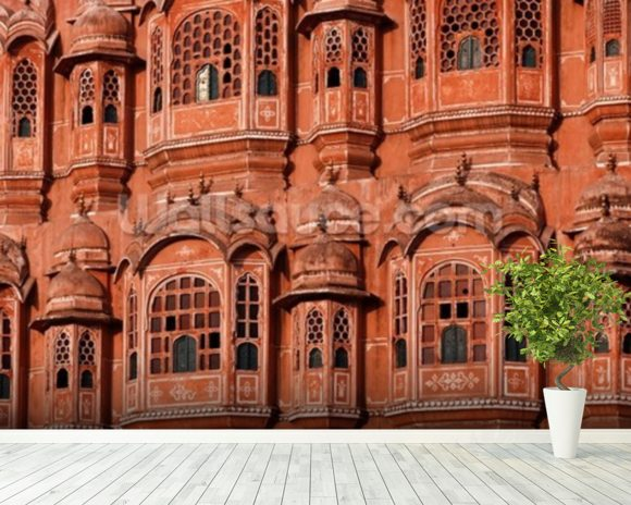 Hawa mahal jaipur wallpaper wall mural wallsauce germany for Wallpaper for home walls jaipur