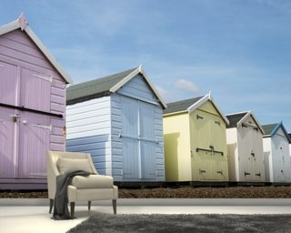 Beach Huts wall mural